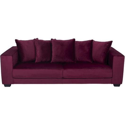 Picture of SPUD sofa 3.5 microfibre red