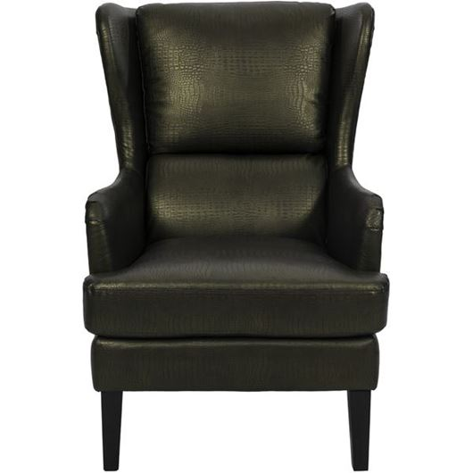 Picture of CAM wing chair faux leather bronze