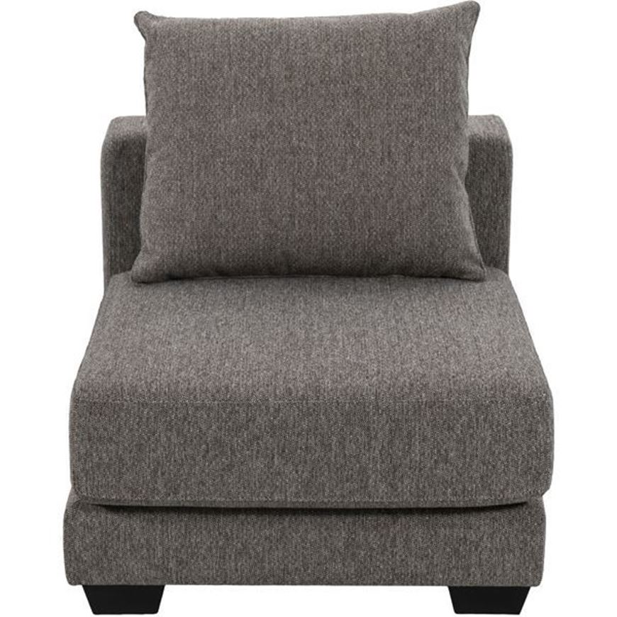 SPUD armless chair brown