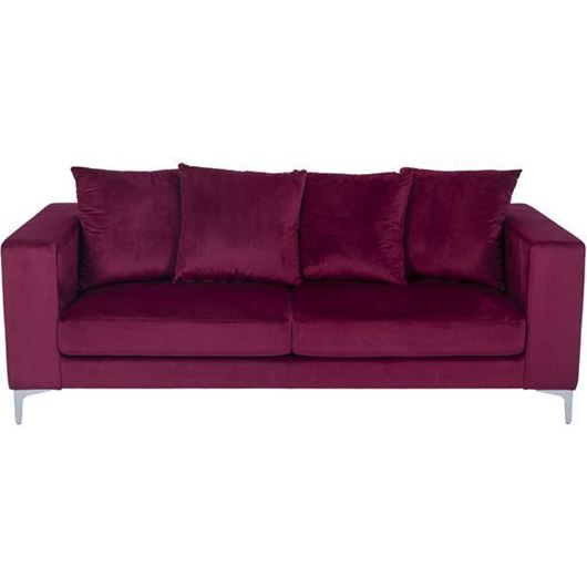REO sofa 3 microfibre red