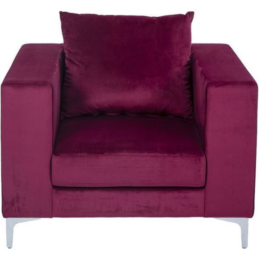 REO chair microfibre red