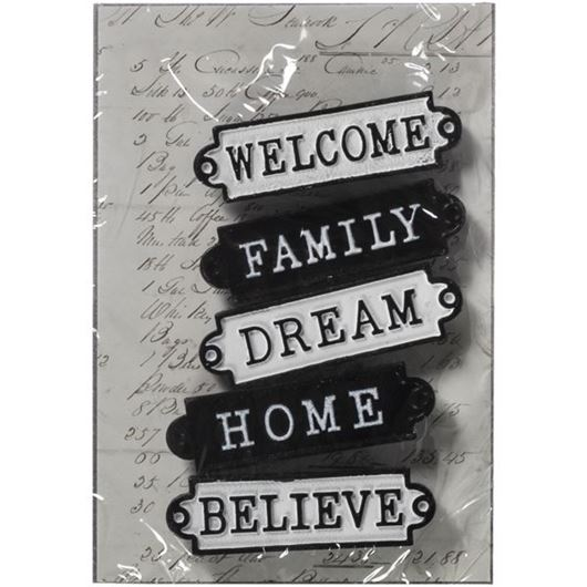 Picture of ALISH magnet set of 5 black and white