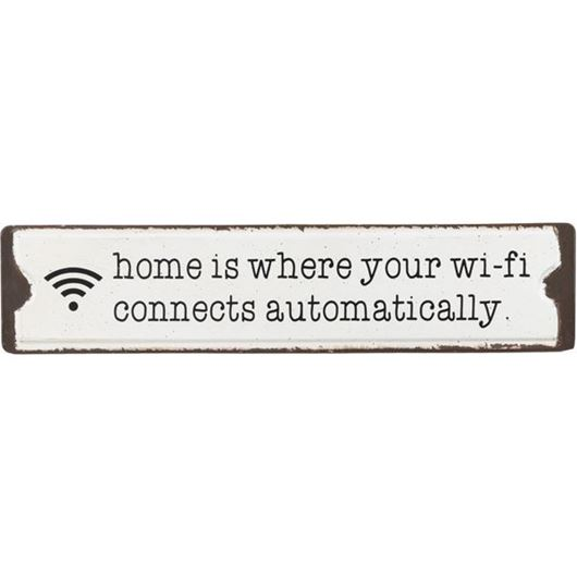 Picture of WIFI CONNECTION wall decoration 51x11 black and white