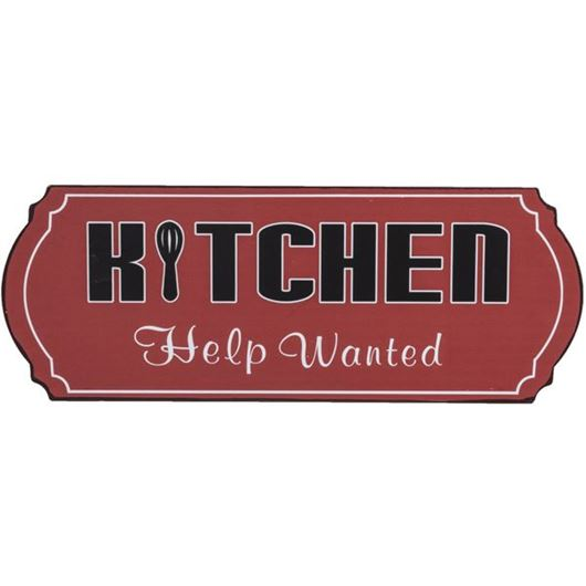 Picture of HELP WANTED wall decoration 41x15 red