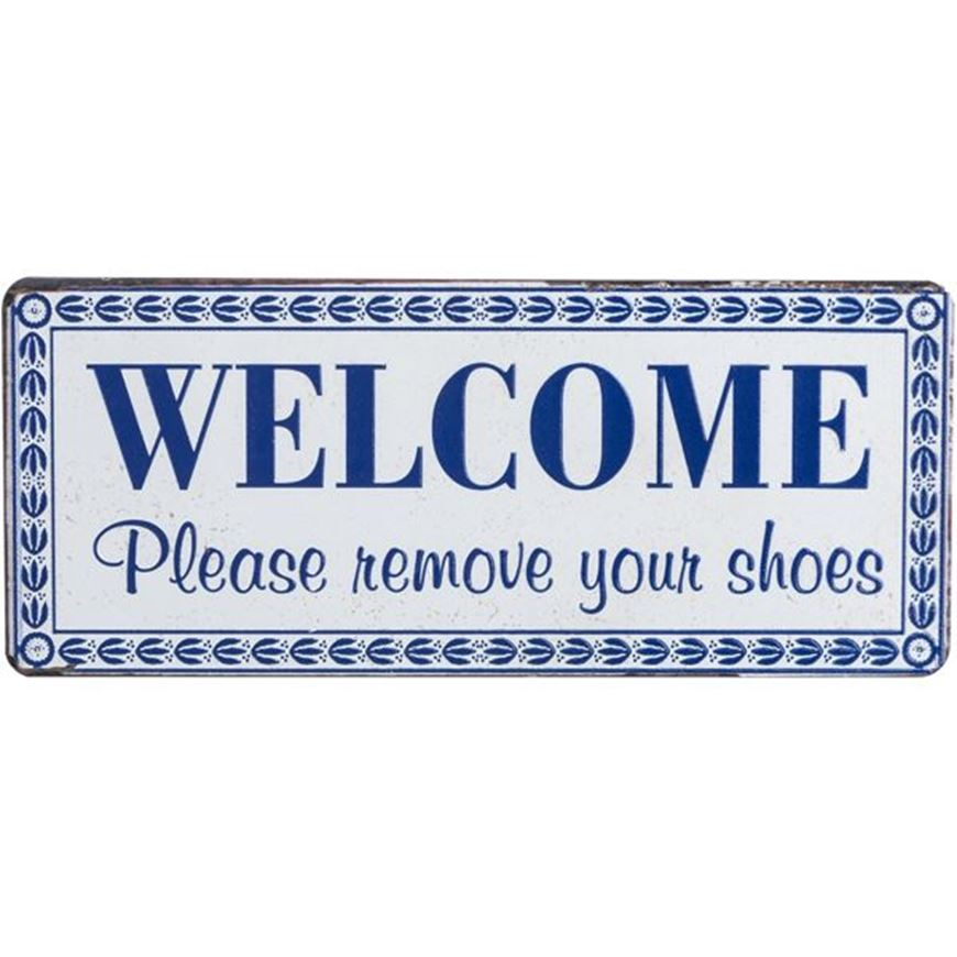 Picture of WELCOME wall decoration 31x13 black and white