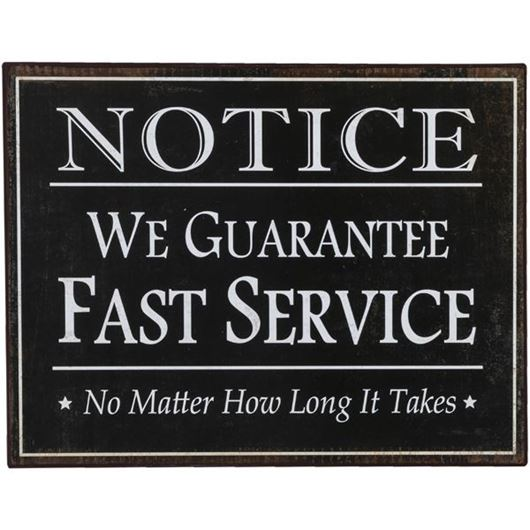 Picture of FAST SERVICE wall decoration 40x31 black and white