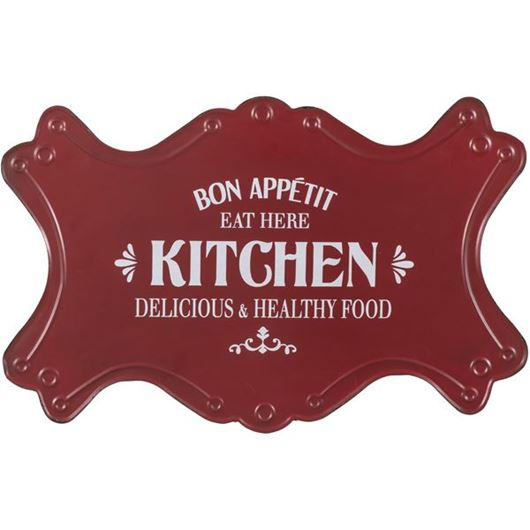 Picture of KITCHEN wall decoration 62x39 red