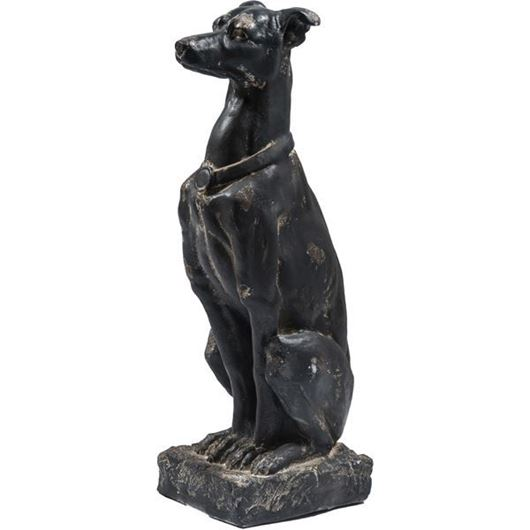 Picture of GENIS dog decoration h79cm black