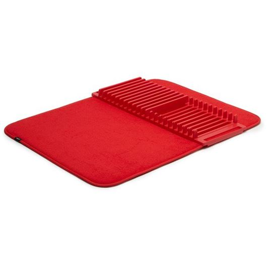 Picture of UDRY dish rack & drying mat red