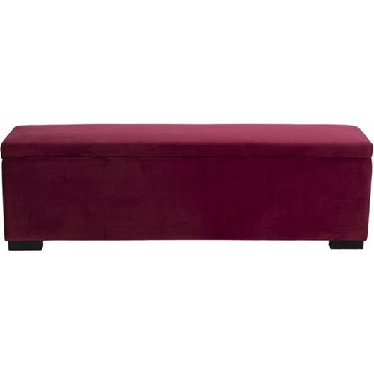 Picture of WINK stool 160x40 microfibre red