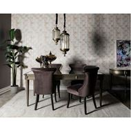 MIAM dining table 200x100 clear/gold