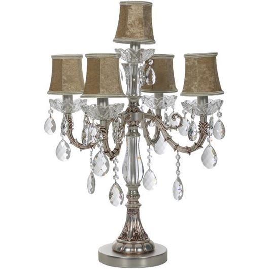 Picture of ROXY table lamp h68cm brown/silver