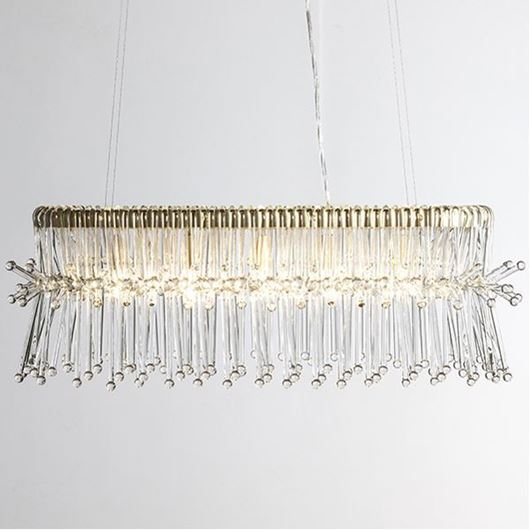 Picture of ELIX chandelier 90x28 clear/gold