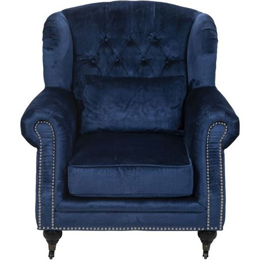 Picture of MILLS wing chair blue