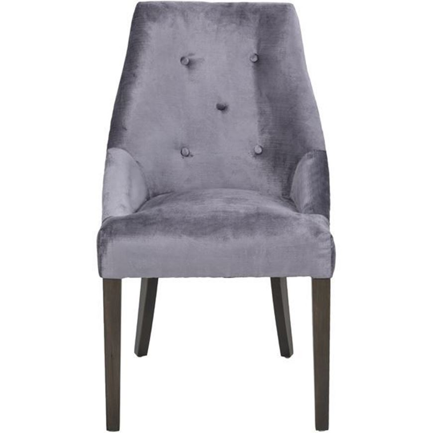 GRINGO dining chair silver/grey brown