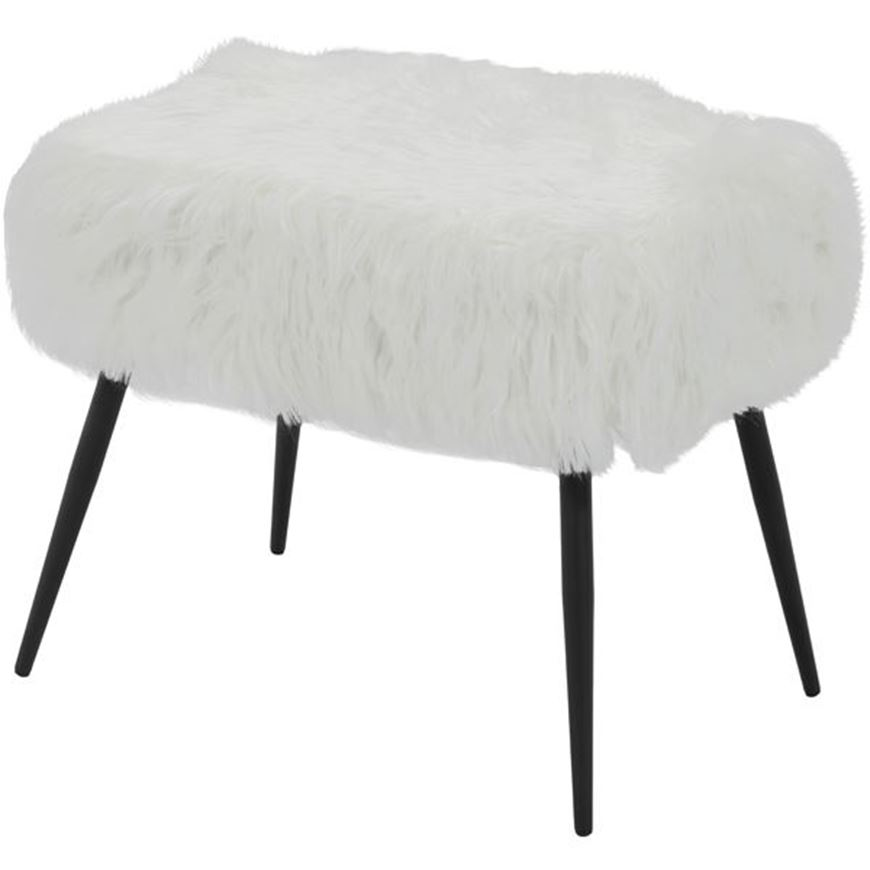 Picture of LAMB stool 60x40 white