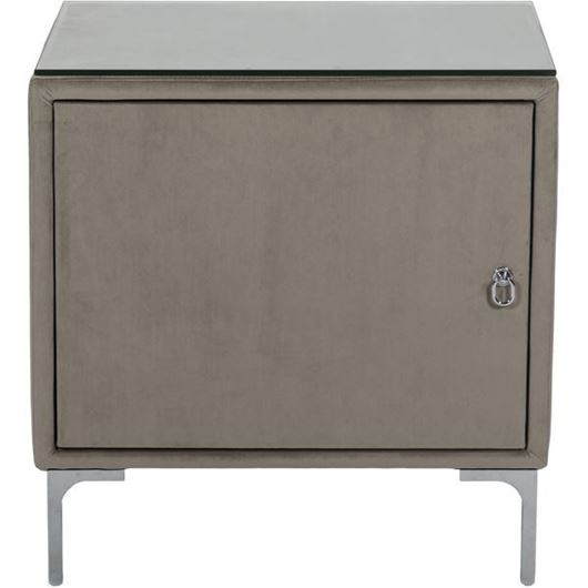 Picture of SONA bedside table Left microfibre taupe