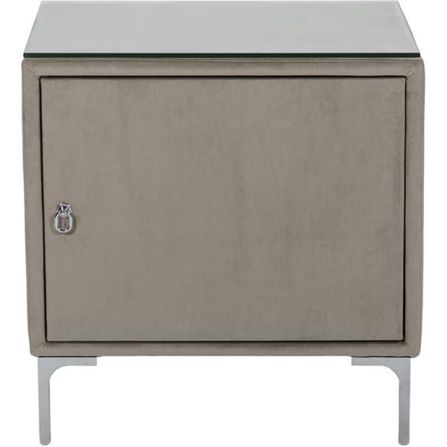 Picture of SONA bedside table Right microfibre taupe