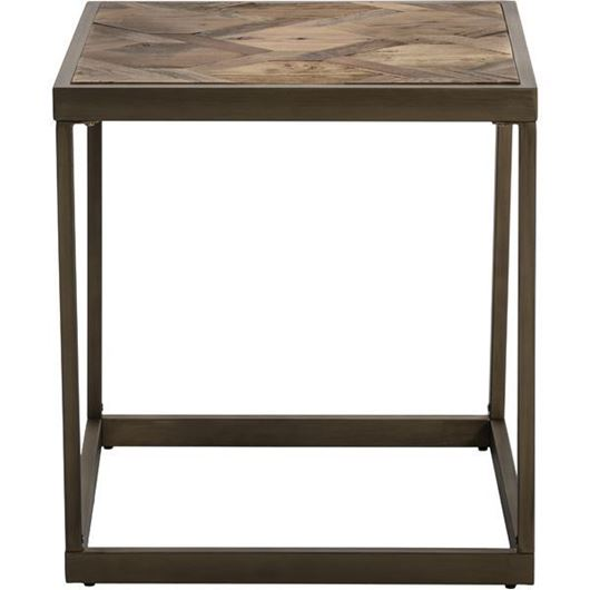 Picture of YET side table 55x55 brown/gold