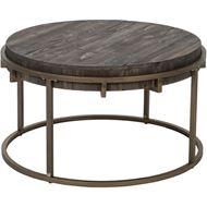 PAVS coffee table d81cm grey/gold