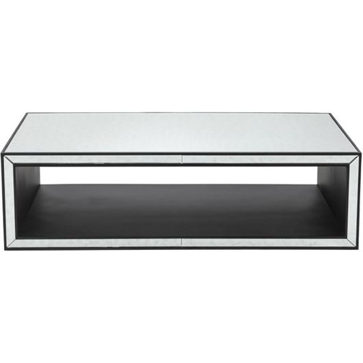 Picture of JIM coffee table 140x70 clear/black