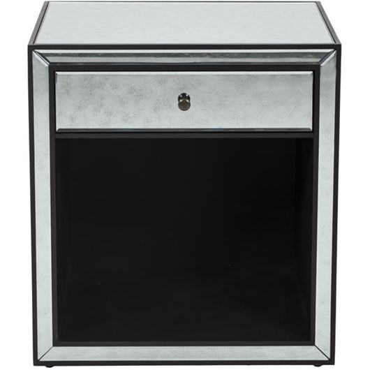 Picture of JIM bedside table clear/black