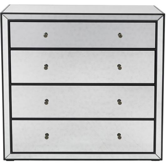 Picture of JIM chest 4 drawers clear/black