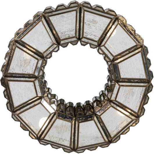 Picture of OCTTO mirror with light d72cm brass