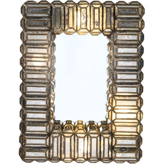 Picture of RUWAN mirror with light 79x60 brass