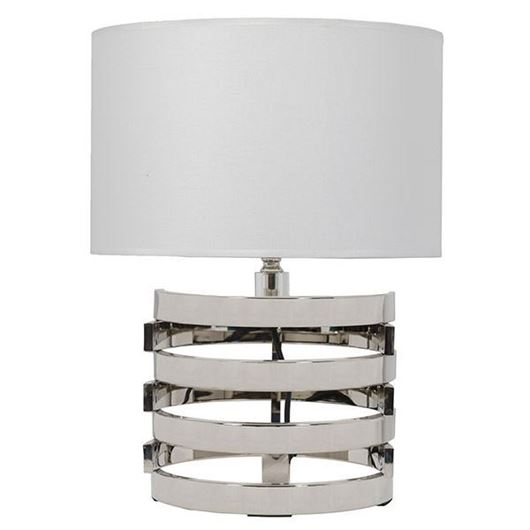 Picture of KOIL table lamp h47cm white/nickel
