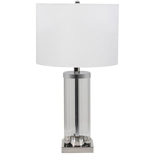 Picture of LAPIS table lamp h66cm white/stainless steel