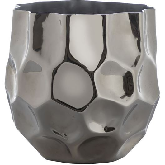 Picture of ZOOEY planter h19cm nickel