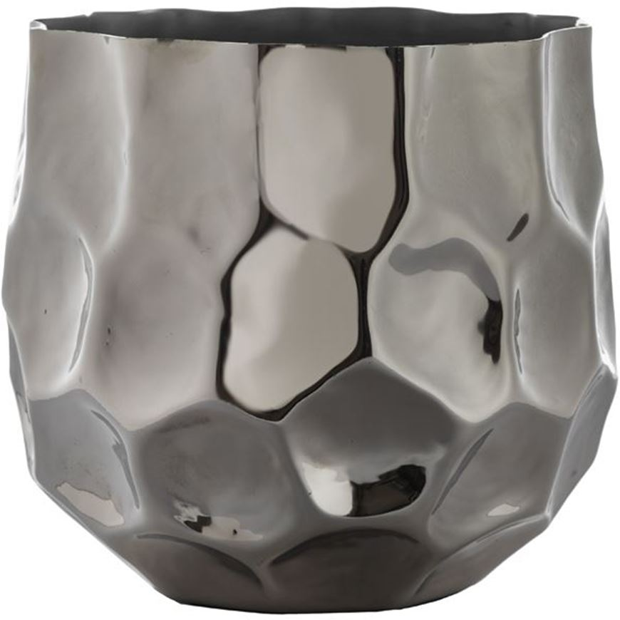 Picture of ZOOEY planter h24cm nickel