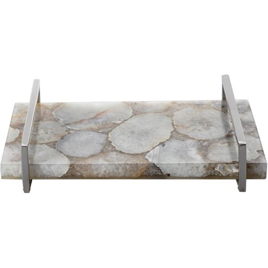 WYNNE tray 35x23 nickel/white