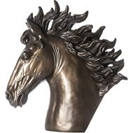 ADRUS horse decoration h71cm bronze