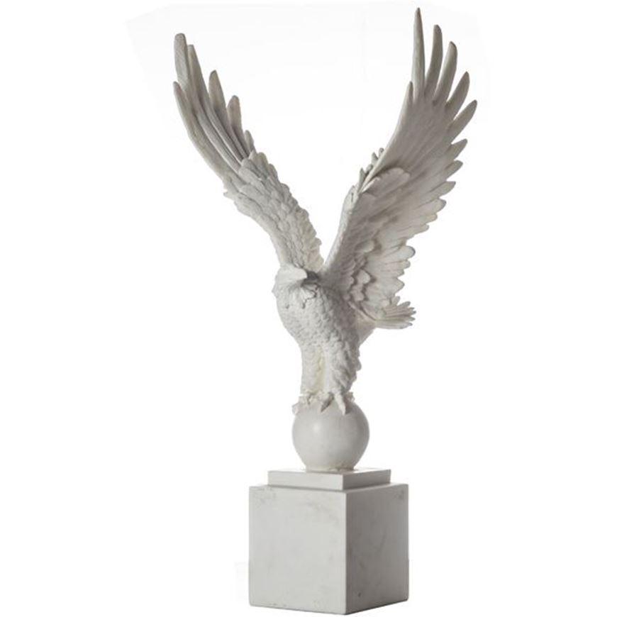 Picture of MARIUS eagle decoration h74cm white