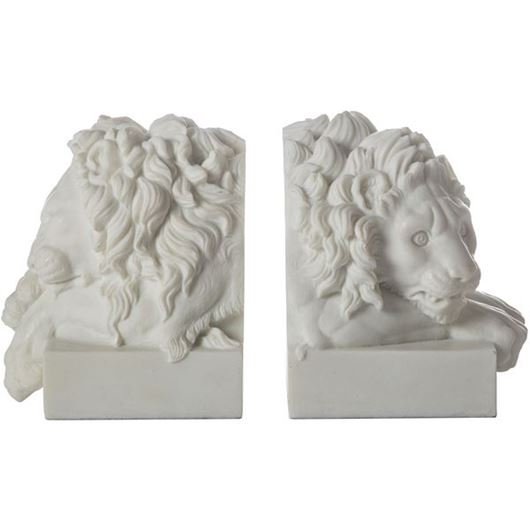 Picture of LEONID bookends h18cm set of 2 white