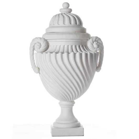 Picture of CAMILLE jar with lid h52cm white