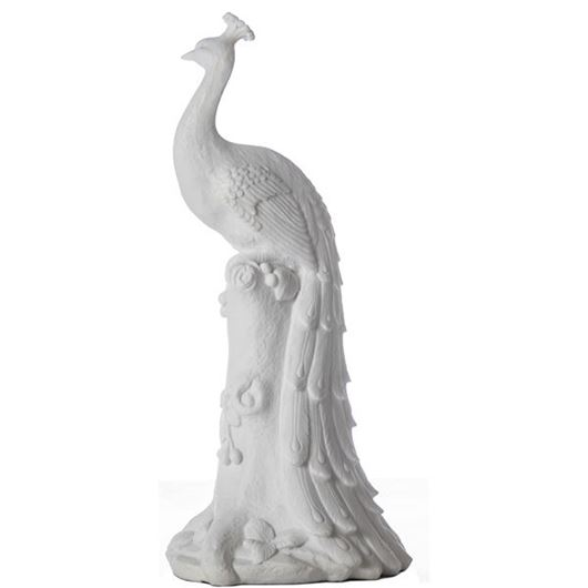 Picture of PEACOCK decoration h45cm white