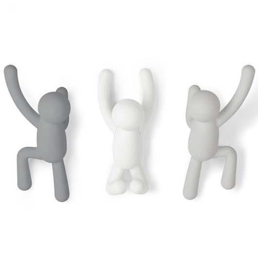 Picture of BUDDY hook set of 3 grey/white