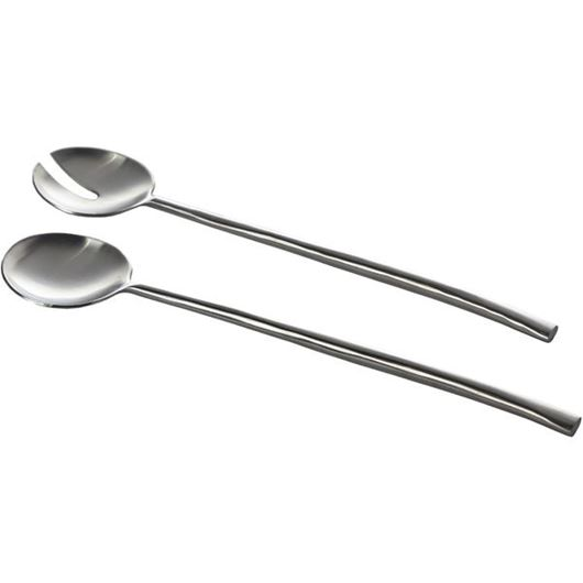 Picture of MATTE salad server set of 2 silver