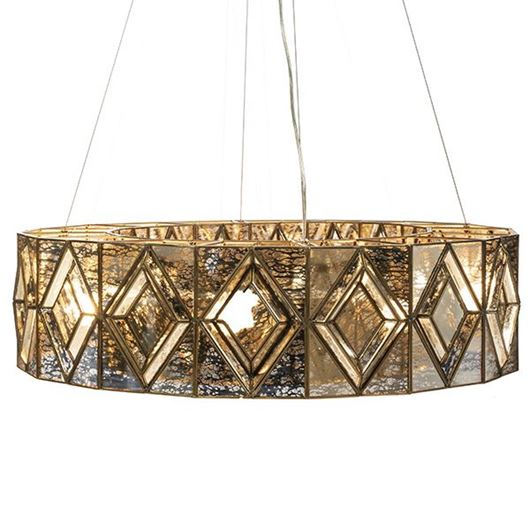 Picture of TRUSS pendant lamp d92cm brass
