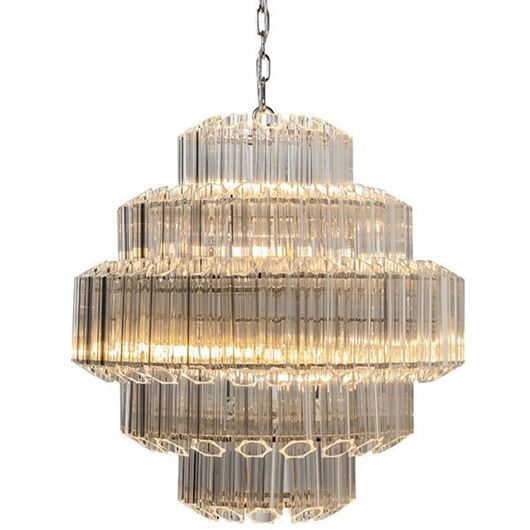 Picture of SUAL chandelier d66cm clear/stainless steel