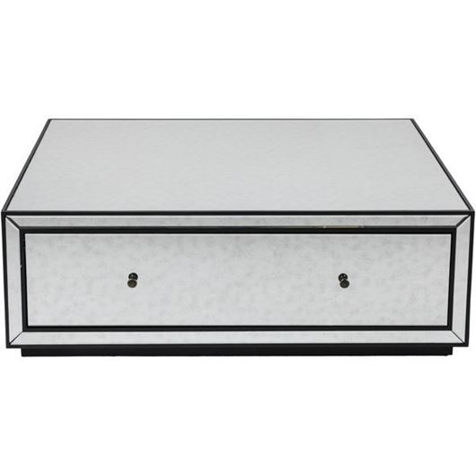 JIM coffee table 120x120 clear/black