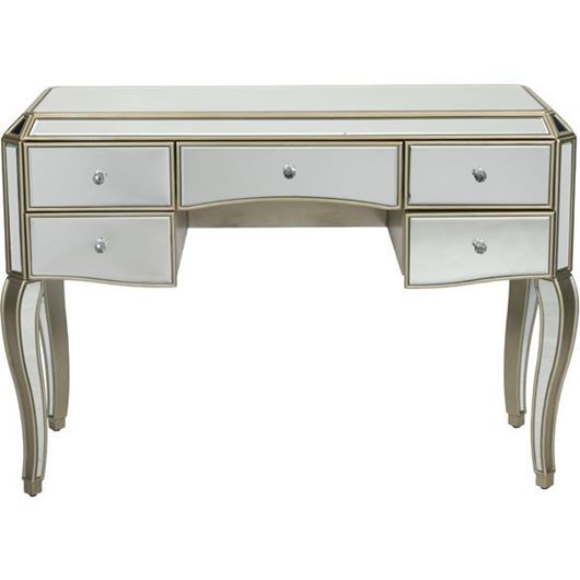 Picture of LINA dressing table 125x54 clear/gold