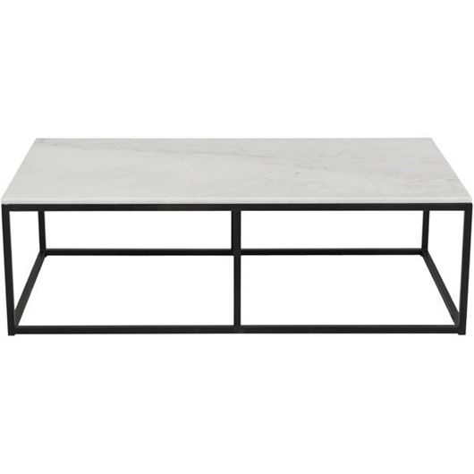 Picture of IRON coffee table 130x70 white/black