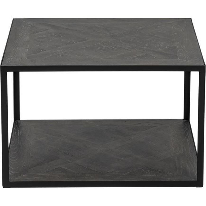Picture of TOP side table 60x60 brown/black