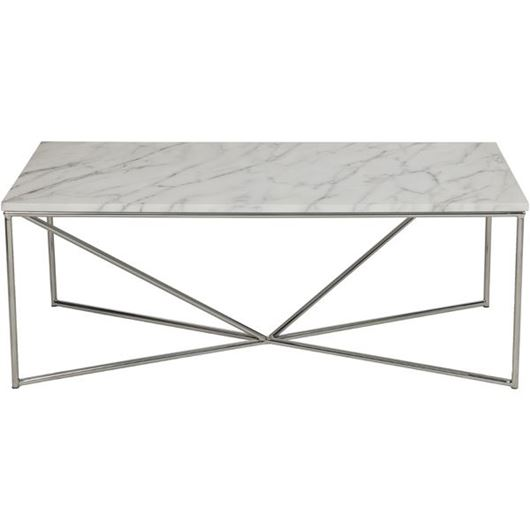 Picture of FAKO coffee table 120x60 white/stainless steel