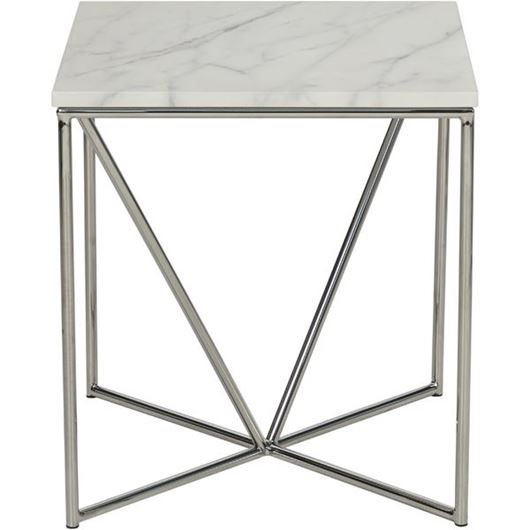 Picture of FAKO side table 50x50 white/stainless steel