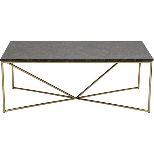 Picture of FAKO coffee table 120x60 brown/gold